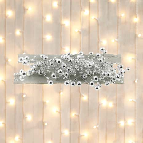 Silver Beaded Tree Garland