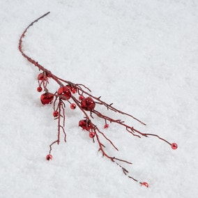 Red Bell and Berry Twig