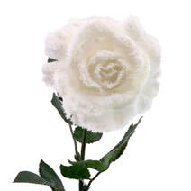 Artificial Snowy White Rose