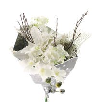 Artificial Cream Bouquet