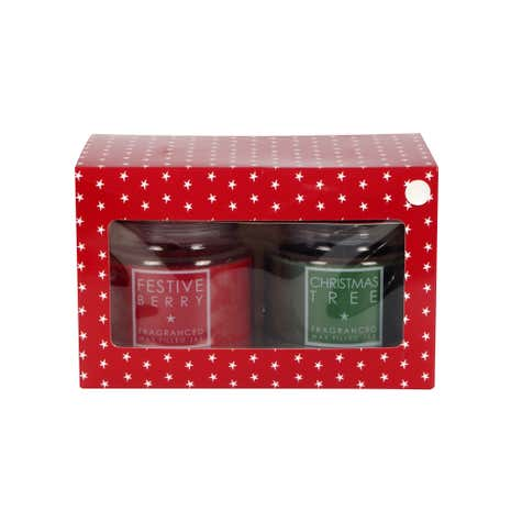 Pack of 2 Medium Festive Jar Candles