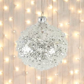 White Crystal Bauble