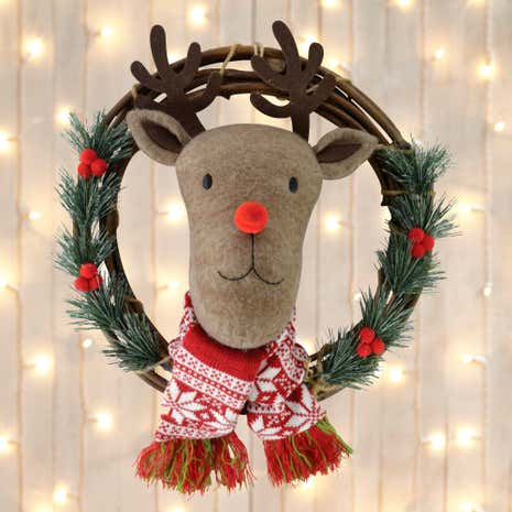 Reindeer Head Wreath