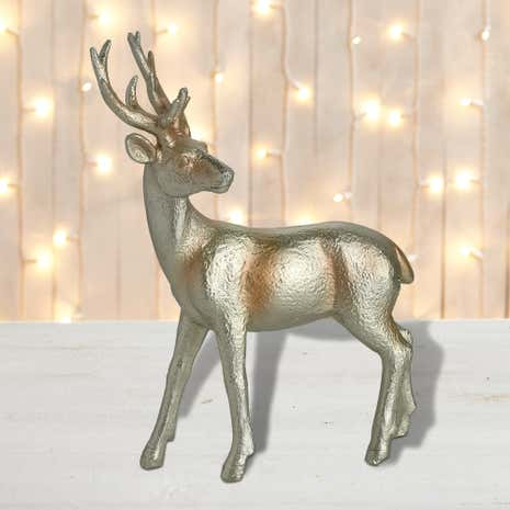 Gold Brushed Stag Ornament