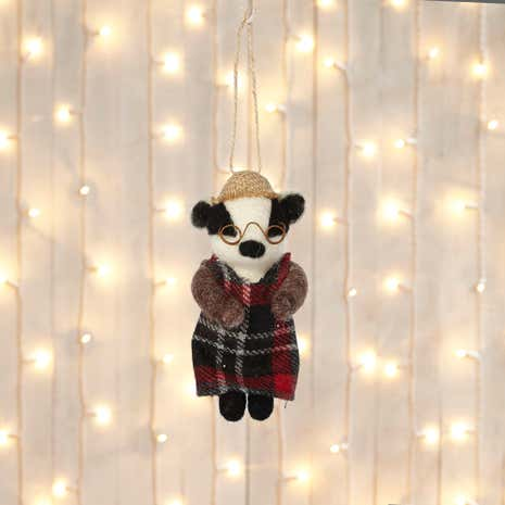 Wool Badger Lady Tree Decoration
