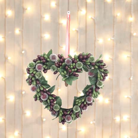 Mixed Berry Leaf Hanging Heart