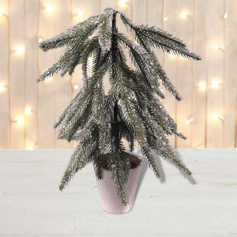 Snowy Table Top Tree