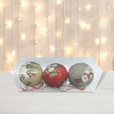 Novelty Decoupage Baubles
