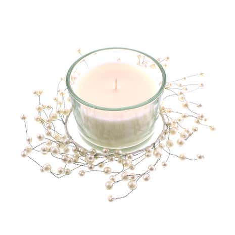 Pearl Candle Wreath Set