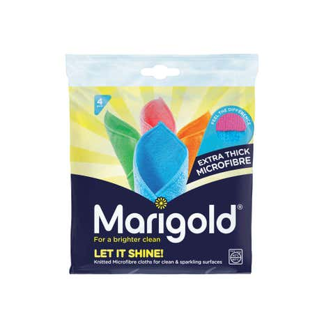 Marigold Let It Shine 4 Pack Microfibre Cloths