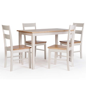 Sophie Dining Table and 4 Chairs Set