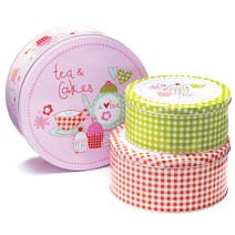 Cupcakes Set of 3 Round Cake Tins