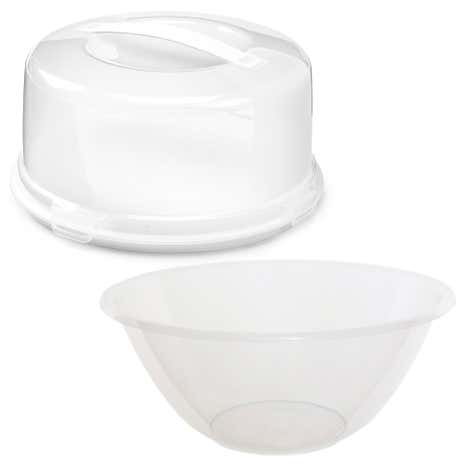 Whitefurze Round Cake Box with 3.5 Litre Mixing Bowl