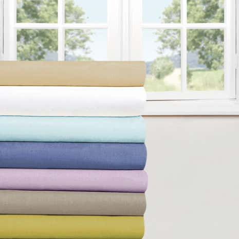 Percale 180 Thread Count 25cm Fitted Sheet