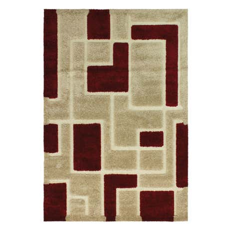 Red Arezzo Shaggy Rug