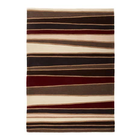 Brown Strokes Rug