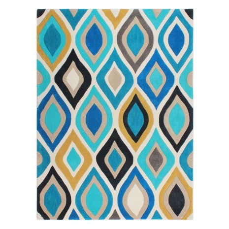 Blue Tribal Rug