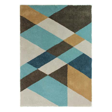 Teal Shards Rug