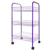 Spectrum 3 Tier Veg Trolley Purple
