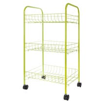 Spectrum 3 Tier Lime Veg Trolley