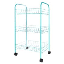 Spectrum 3 Tier Turquoise Veg Trolley