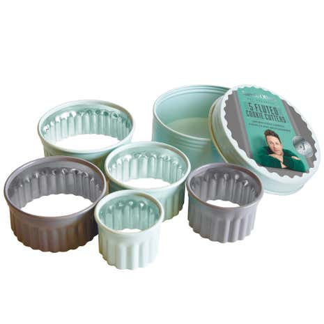 Jamie Oliver Set of 5 Fluted Round Cookie Cutters