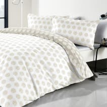 Graphic Spot Natural Duvet Cover Set