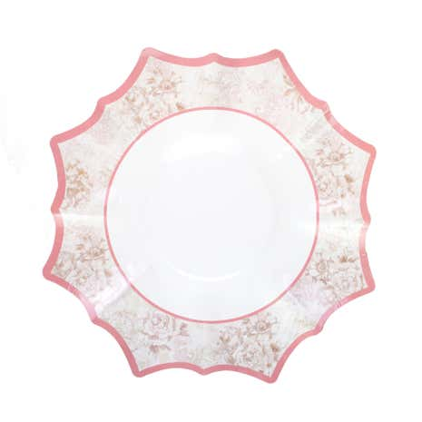Pack of 4 Scalloped Vintage Christmas Platters