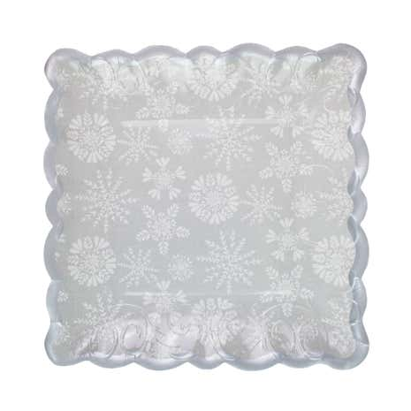 Pack of 4 Frosted Pines Square Platters