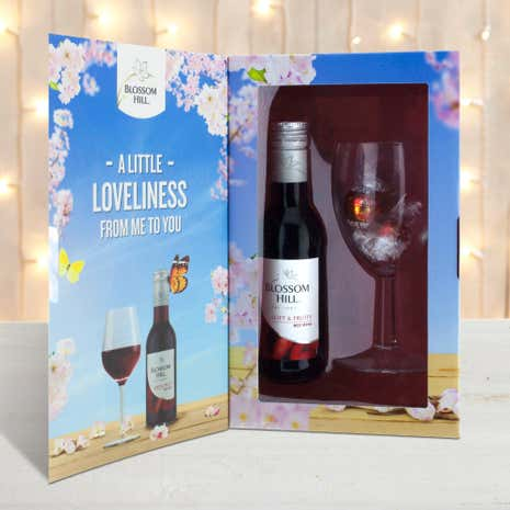 Blossom Hill Red Wine and Glass Gift Pack