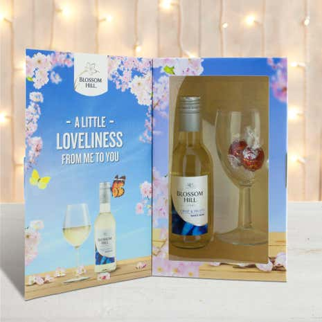 Blossom Hill White Wine and Glass Gift