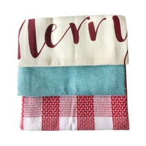 Pack of 3 Christmas Cabin Tea Towels