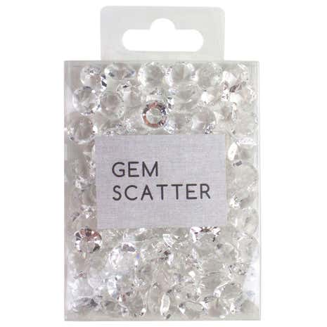 Clear Scatter Gems