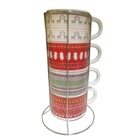 Fairisle Stacking Mugs
