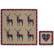 Fergus Stag Placemat and Coaster Set