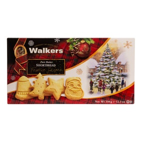 Walker's Festive Shapes Shortbread 350g Tin