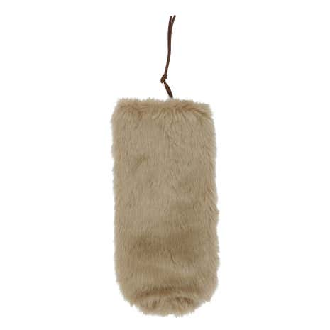 Faux Fur Brown Wine Bottle Carrier