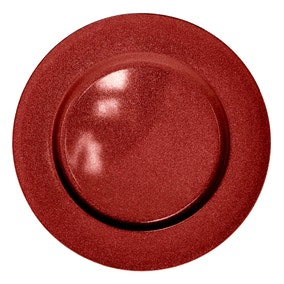 Red Glitter Charger Plate