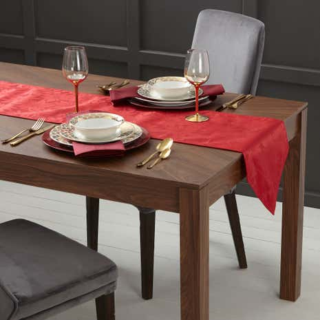 Poinsettia Red Table Runner