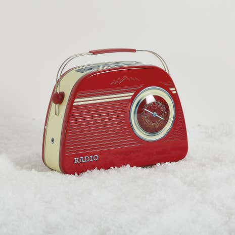 Red Radio Tin of Biscuits