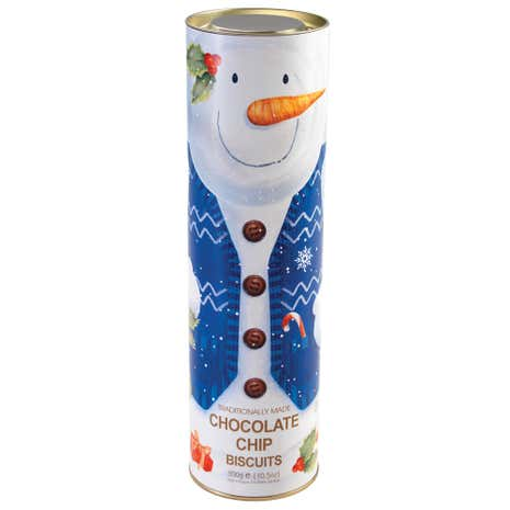 Snowman Tube of Biscuits