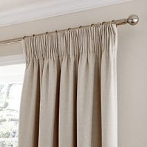 Cosmos Natural Pencil Pleat Curtains