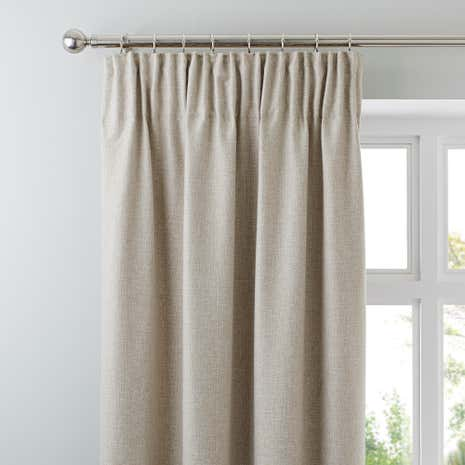 Harris Natural Thermal Pencil Pleat Curtains