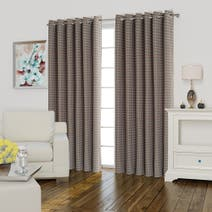 Athena Orange Lined Eyelet Curtains