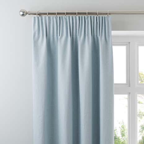 Hayden Duck Egg Lined Pencil Pleat Curtains