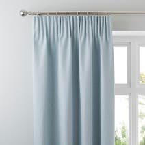 Hayden Duck-Egg Lined Pencil Pleat Curtains