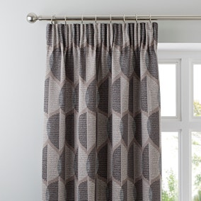 Metropolitan Black Lined Pencil Pleat Curtains 117cm x 137cm