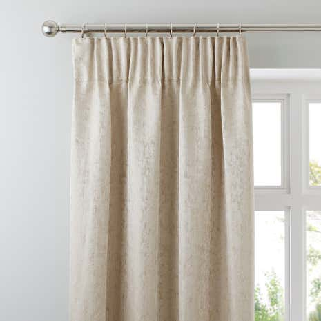 Richmond Champagne Lined Pencil Pleat Curtains