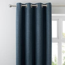 Vermont Denim Lined Eyelet Curtains