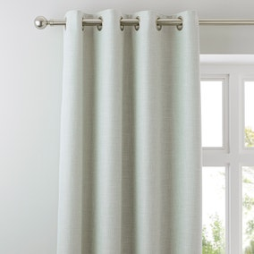 Vermont Seafoam Lined Eyelet Curtains